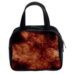 Abstract Brown Smoke Classic Handbags (2 Sides)