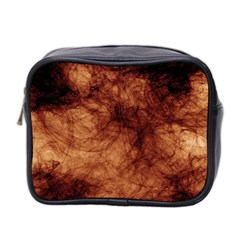 Abstract Brown Smoke Mini Toiletries Bag 2 Side