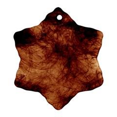 Abstract Brown Smoke Ornament (snowflake)