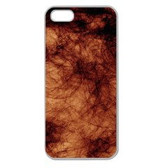 Abstract Brown Smoke Apple Seamless iPhone 5 Case (Clear)