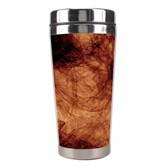 Abstract Brown Smoke Stainless Steel Travel Tumblers