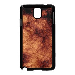 Abstract Brown Smoke Samsung Galaxy Note 3 Neo Hardshell Case (Black)