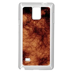 Abstract Brown Smoke Samsung Galaxy Note 4 Case (white)