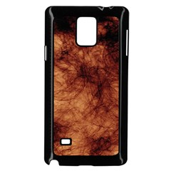 Abstract Brown Smoke Samsung Galaxy Note 4 Case (black)