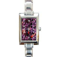 Abstract Painting Digital Graphic Art Rectangle Italian Charm Watch