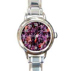 Abstract Painting Digital Graphic Art Round Italian Charm Watch