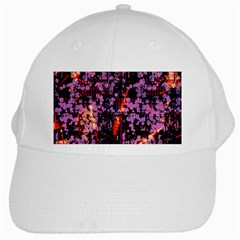 Abstract Painting Digital Graphic Art White Cap