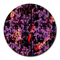 Abstract Painting Digital Graphic Art Round Mousepads