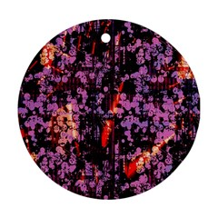 Abstract Painting Digital Graphic Art Ornament (Round)