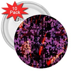 Abstract Painting Digital Graphic Art 3  Buttons (10 pack)