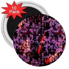 Abstract Painting Digital Graphic Art 3  Magnets (10 Pack)