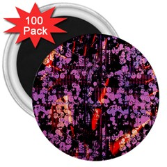 Abstract Painting Digital Graphic Art 3  Magnets (100 pack)