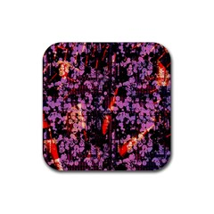 Abstract Painting Digital Graphic Art Rubber Square Coaster (4 pack)