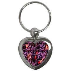 Abstract Painting Digital Graphic Art Key Chains (Heart)