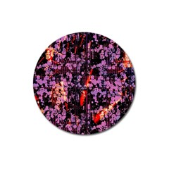 Abstract Painting Digital Graphic Art Magnet 3  (Round)