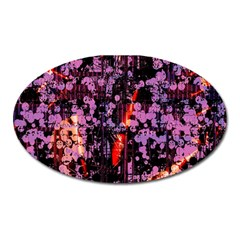 Abstract Painting Digital Graphic Art Oval Magnet