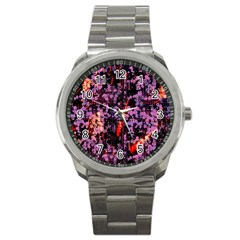 Abstract Painting Digital Graphic Art Sport Metal Watch