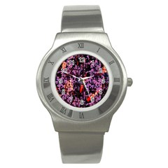 Abstract Painting Digital Graphic Art Stainless Steel Watch