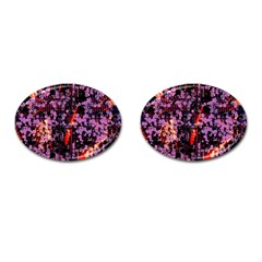 Abstract Painting Digital Graphic Art Cufflinks (Oval)