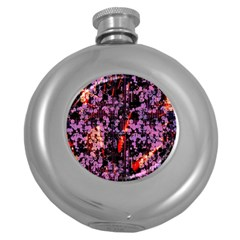 Abstract Painting Digital Graphic Art Round Hip Flask (5 Oz)
