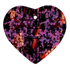 Abstract Painting Digital Graphic Art Heart Ornament (Two Sides)