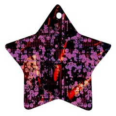 Abstract Painting Digital Graphic Art Star Ornament (Two Sides)
