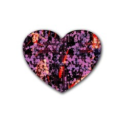 Abstract Painting Digital Graphic Art Heart Coaster (4 pack)