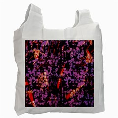 Abstract Painting Digital Graphic Art Recycle Bag (two Side)