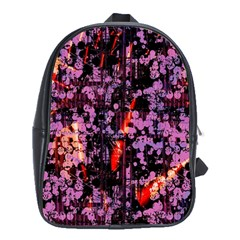 Abstract Painting Digital Graphic Art School Bags (XL)