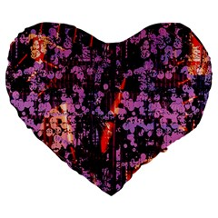 Abstract Painting Digital Graphic Art Large 19  Premium Heart Shape Cushions