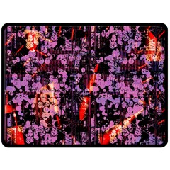 Abstract Painting Digital Graphic Art Double Sided Fleece Blanket (Large)