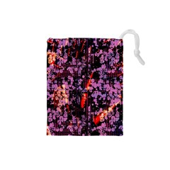 Abstract Painting Digital Graphic Art Drawstring Pouches (small)