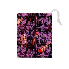 Abstract Painting Digital Graphic Art Drawstring Pouches (Medium)