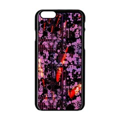 Abstract Painting Digital Graphic Art Apple iPhone 6/6S Black Enamel Case