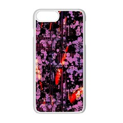 Abstract Painting Digital Graphic Art Apple Iphone 7 Plus White Seamless Case
