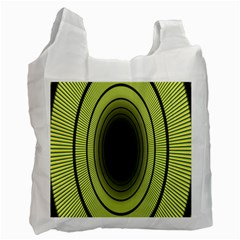Spiral Tunnel Abstract Background Pattern Recycle Bag (one Side)