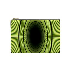 Spiral Tunnel Abstract Background Pattern Cosmetic Bag (medium)