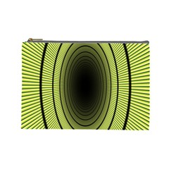 Spiral Tunnel Abstract Background Pattern Cosmetic Bag (Large)