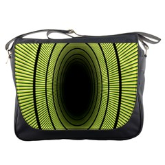 Spiral Tunnel Abstract Background Pattern Messenger Bags