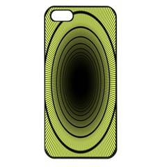Spiral Tunnel Abstract Background Pattern Apple Iphone 5 Seamless Case (black)