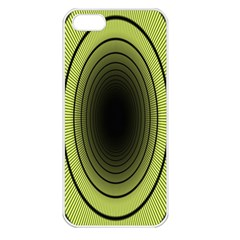 Spiral Tunnel Abstract Background Pattern Apple iPhone 5 Seamless Case (White)