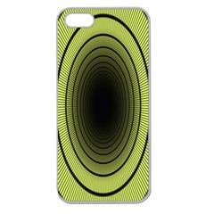 Spiral Tunnel Abstract Background Pattern Apple Seamless iPhone 5 Case (Clear)