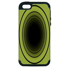 Spiral Tunnel Abstract Background Pattern Apple Iphone 5 Hardshell Case (pc+silicone)