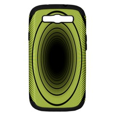 Spiral Tunnel Abstract Background Pattern Samsung Galaxy S Iii Hardshell Case (pc+silicone)