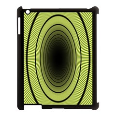 Spiral Tunnel Abstract Background Pattern Apple Ipad 3/4 Case (black)