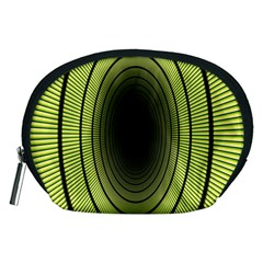 Spiral Tunnel Abstract Background Pattern Accessory Pouches (Medium)