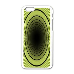 Spiral Tunnel Abstract Background Pattern Apple iPhone 6/6S White Enamel Case