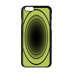 Spiral Tunnel Abstract Background Pattern Apple iPhone 6/6S Black Enamel Case