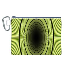 Spiral Tunnel Abstract Background Pattern Canvas Cosmetic Bag (l)