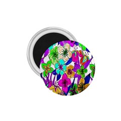 Floral Colorful Background Of Hand Drawn Flowers 1 75  Magnets